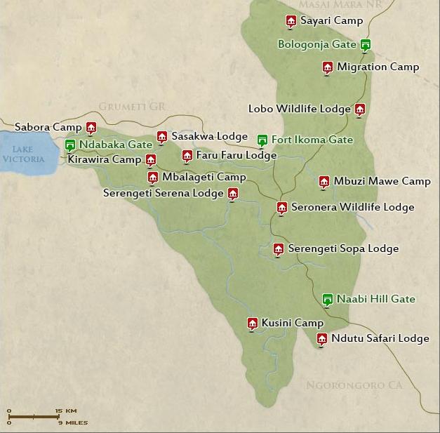 edited map of serengeti